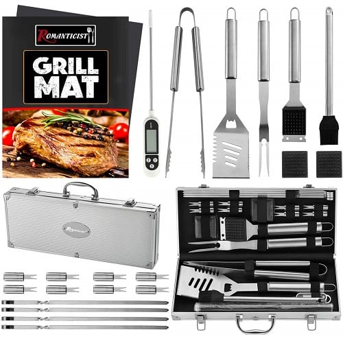 Romanticist 23-Piece Stainless Steel Barbecue Grill Set