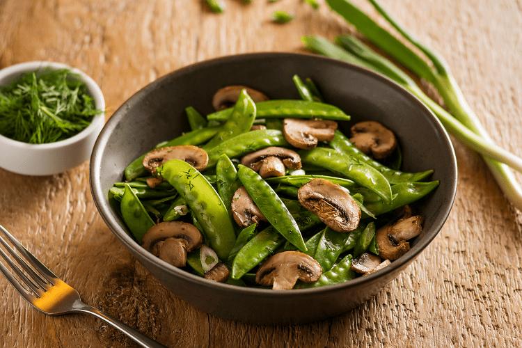 Pea And Mushrooms Stir Fry