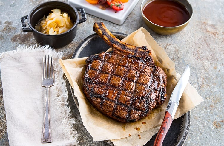 Line Sear Grill Mark On Meat