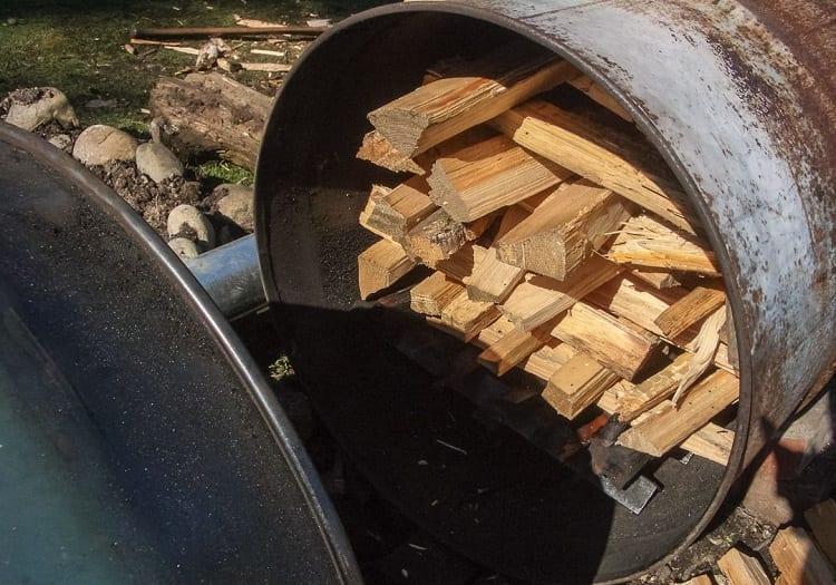 Wood In Barrel