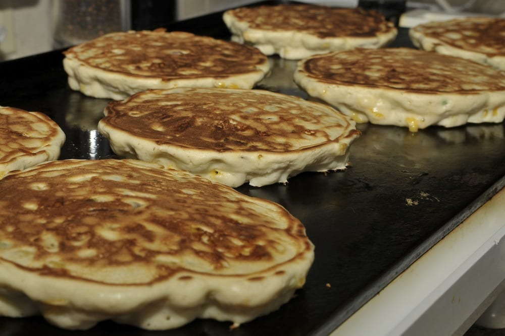 griddle pancakes on grill