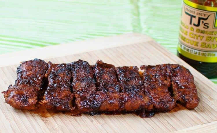 Vegan Spare Ribs With BBQ Glaze